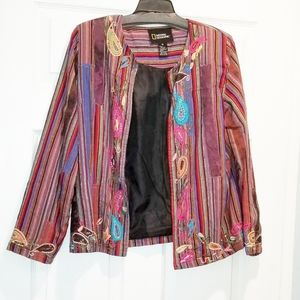 NATIONAL GEOGRAPHIC silk jacket vintage